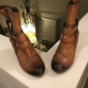 Gently used real leather brown boots
